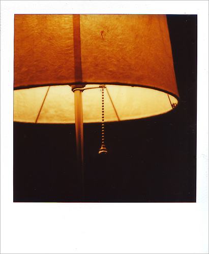 Luke's Jason Molina lamp polaroid